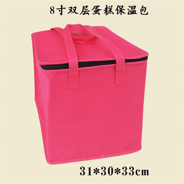 Envío Libre Grande de Picnic Con Aislamiento Bolsos Más Frescos Para Las Tortas de Algodón color de Rosa Caliente Bolsos de Bolsas de Comida Bolsa de Almuerzo Térmica LYBW001