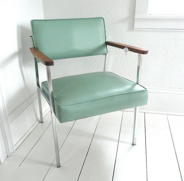 Seafoam Green Mid Century Chair