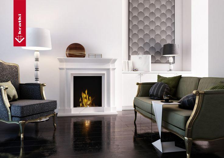 Biofireplace Legionis #kratki #biofireplace #interior #glamour #white #freestanding
