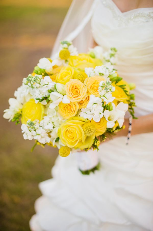 Yellow Wedding Bouquet - Yellow & Grey Superhero Wedding – Tampa Bay Watch - Angel He Photography