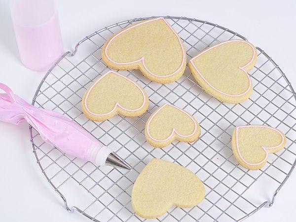 Melisglasur på cookies