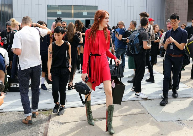 Teddy Quinlivan NY Fashion Week. Want to know who made this dress.
