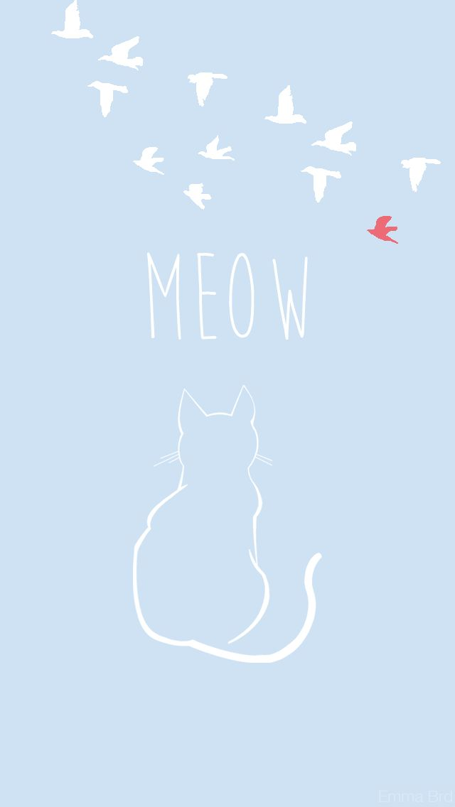 Meow! Blue Cat ★ Celebrate World Animal Day / Download more cute Android and iPhone Wallpapers @prettywallpaper