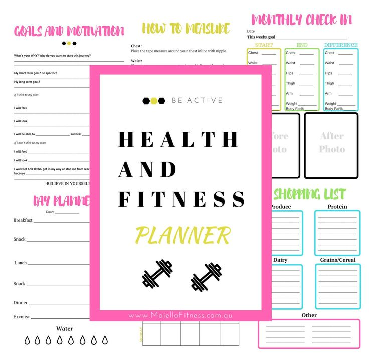 Subscribe for a free fitness planner and health and fitness tips