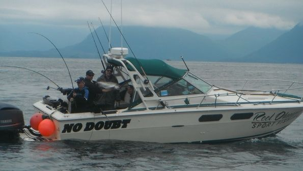 Here is one of our boats for our fishing charters in Canada.