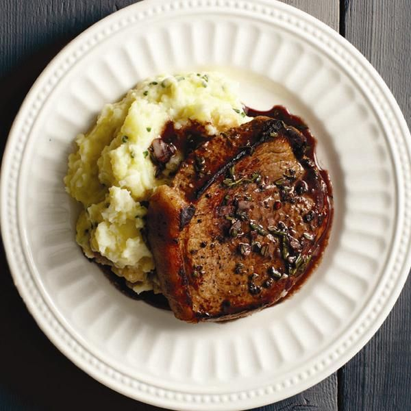 Saucy Minute Steak with Root-Veg Mash-up