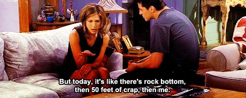 poor Rachel: Rocks Bottoms, Tvmovi Quotes, Friends Tv, 35 Friends, Rachel Friends, Feelings, Friends 3, F R I E N D, Friends Quotes