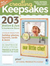CK Sketches Download: November/December 2011   November/December 2011   Creating Keepsakes