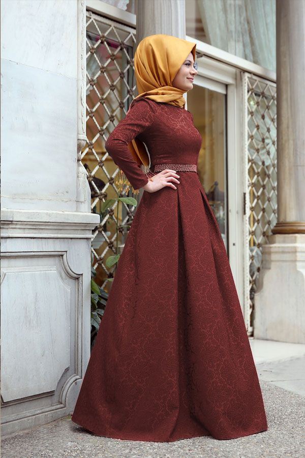 Açelya Dress Bordeaux