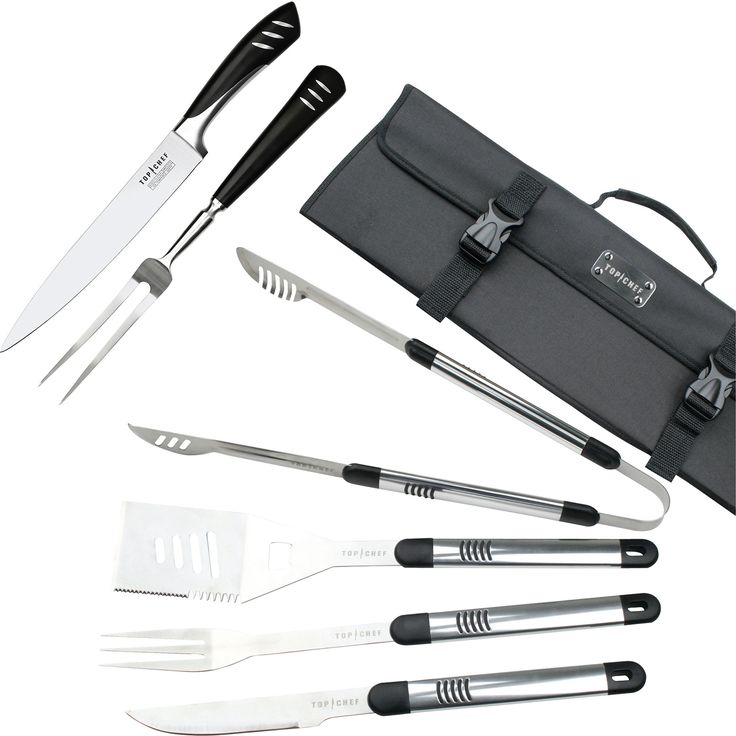 Top Chef Stainless Steel Bbq & Carving 7-Piece Set