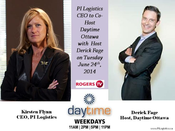 Our CEO will be Co-Hosting Daytime Ottawa on June 24th, 2014 with Host Derick Fage.