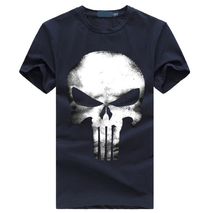 2017 summer new fashion short sleeve casual cotton harajuku homme brand t-shirts the punisher t shirt men streetwear tops skull  #Affiliate