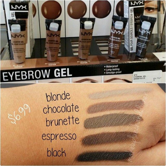 Nyx cosmetics eyebrow gels