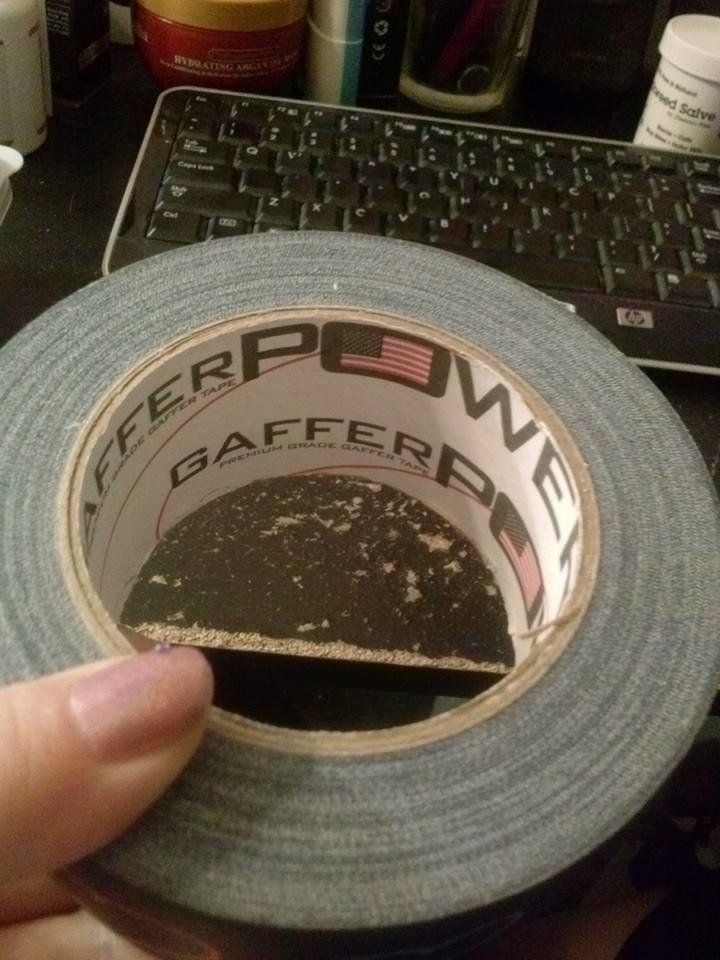 I have never in my life used gaffer's tape before. I am a duct tape kind of girl. This tape is like a sticky fabric. It tears easily and evenly. It sticks to every and any thing. The best part is that it doesn't mess up anything I have stuck it on to. Duct tape can leave behind sticky weaved string which is really hard to clean off. This doesn't do that at all. I don't think I will buy another roll of duct tape after using this gaffers tape! I can repair stuff and tape boxes up with it.