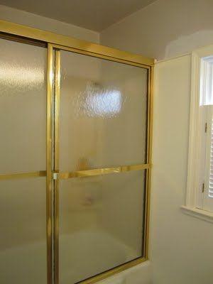 Remove glass shower doors...a DIY Tutorial