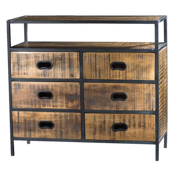 Warba 6 Drawer Accent Chest | Accent chest, Solid mango ...