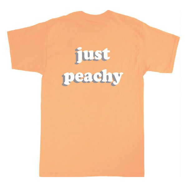 Just Peachy T-Shirt ($20) ❤ liked on Polyvore featuring tops, t-shirts, canvas t shirts, unisex t shirts, beige t shirt, just peachy and unisex tops