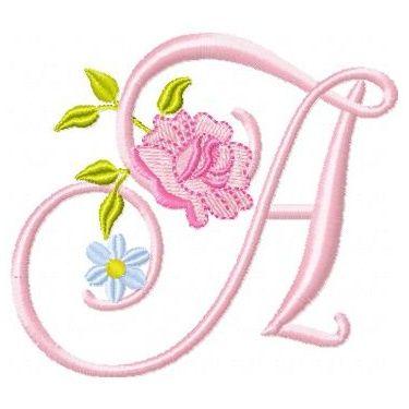 Roses and Daisies Alphabet – 10 Designs!