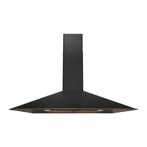 IKEA - VINDRUM, Dunstabzugshaube f Wandmontage, Inklusive 5 Jahre Garantie. Mehr darüber in der Garantiebroschüre.Der spülmaschinenfeste Fettfilter kann zum Reinigen leicht herausgenommen werden. 2 Fettfilter inkl.Mit 2 Halogenlampen für effektive Beleuchtung über dem Kochbereich.Für Umluftbetrieb mit Kohlefilter und für Abluftbetrieb geeignet.Kochdünste werden durch die große Ansaugfläche schnell und effektiv neutralisiert.