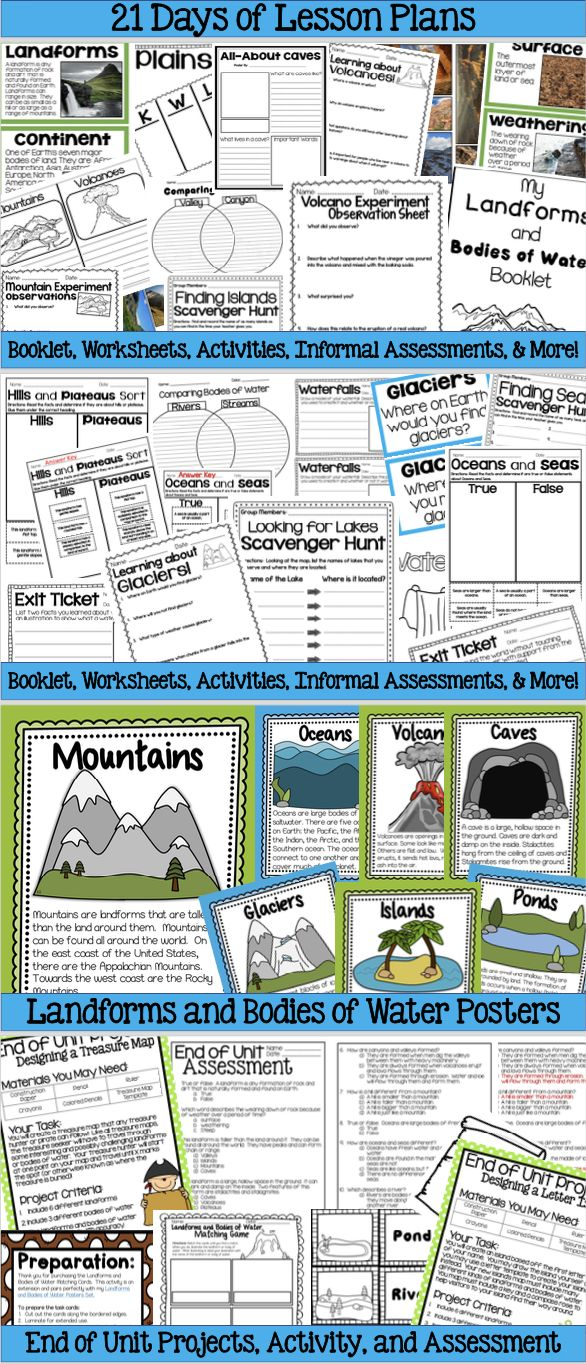 Worksheets Landforms Worksheets the 25 best landforms worksheet ideas on pinterest land forms and bodies of water a complete unit