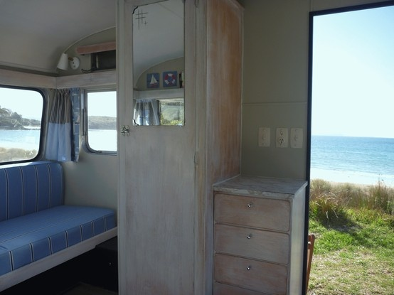 Classic Retro Caravans to rent in New Zealand - Retro cool interiors for a memorable retro cool kiwi experience.  RV enthusiasts LOVE this mode of transportation for their New Zealand vacations!  Click the photo for more info on retro caravan rentals or click here >> http://www.classiccaravans.co.nz #travel #newzealand #RV #caravan