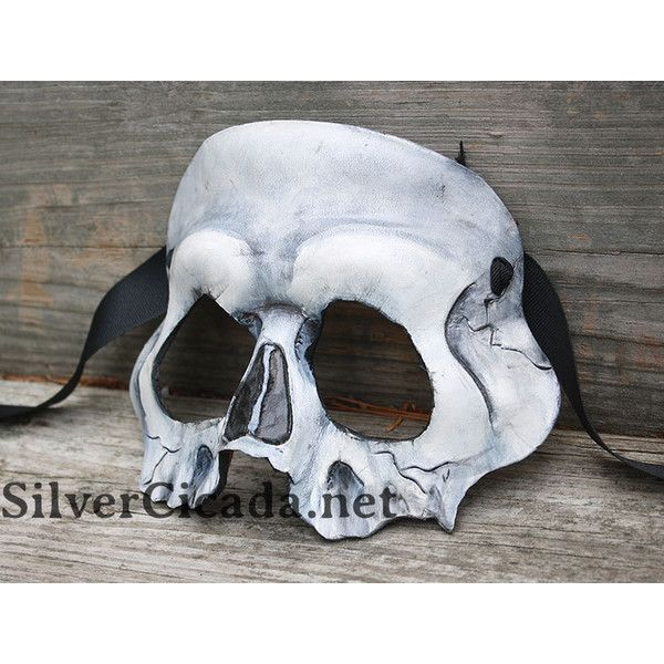 MADE to ORDER Skull Leather Mask Great for Halloween Burning Man... (€63) ❤ liked on Polyvore featuring costumes, leather costume, mardi gras costumes, cosplay halloween costumes, mardi gras halloween costumes and masquerade halloween costumes