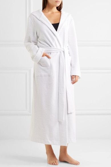 Hanro - Hooded Terry Robe - White