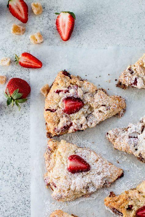 The Brick Kitchen Rhubarb, Strawberry & Ginger Buttermilk Scones