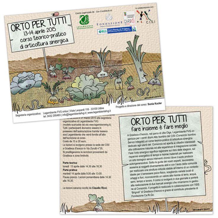 Orto per tutti | Cors di agricoltura sinergica - Progetto grafico Garden for everybody | Course of synergic agriculture - Graphic design | 2015