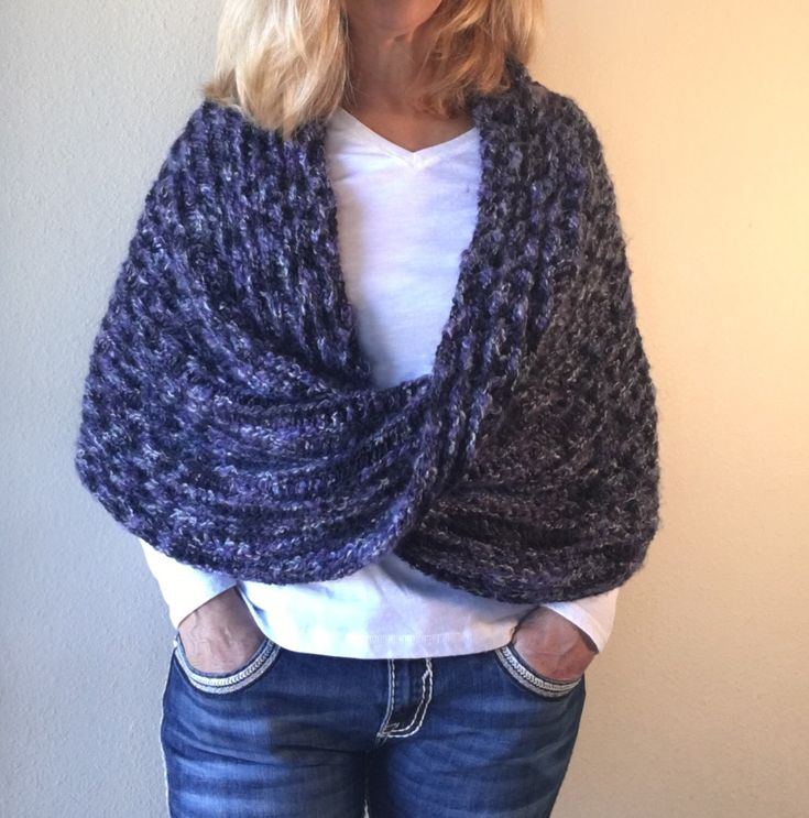 Black Forest Wrap -- Loom Knit Pattern by DaynaScolesDesigns on Etsy https://www.etsy.com/listing/221510555/black-forest-wrap-loom-knit-pattern