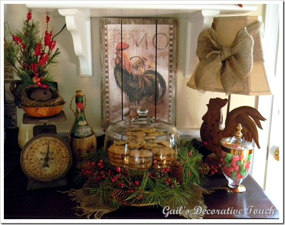 French Country Christmas Decorating Ideas: Christmas Sideboard