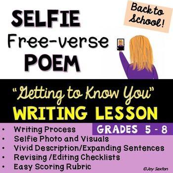 Back to School Beginning of Year Writing - SELFIE Free Ver