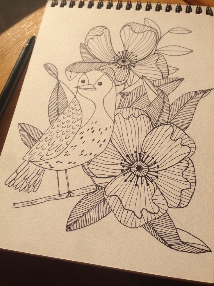 A bird in the flowers