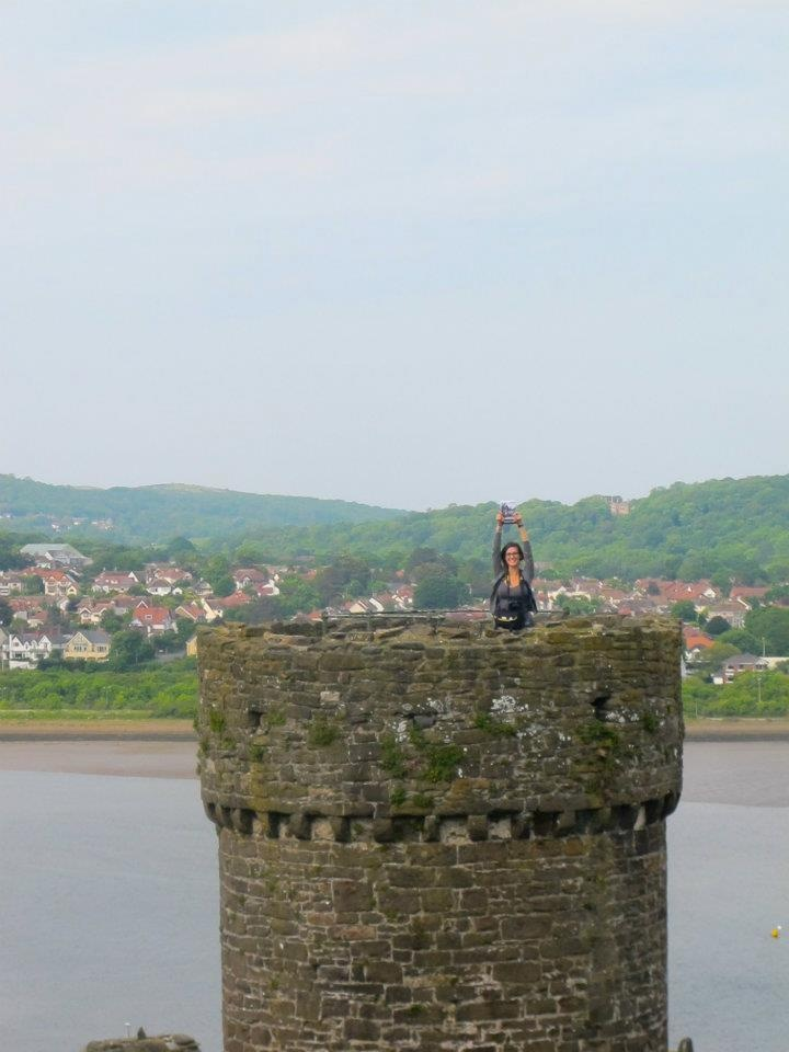 Bootlicker reaches the top of Conway Castle with Jade Ryan in Wales.