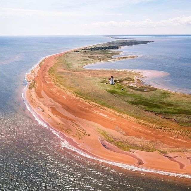 Prince Edward Island Beaches: From Above 😍 #ExplorePEI #adventureiswaiting Image Via