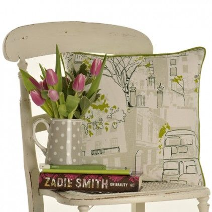 London Scenes Cushion from LOUISE HARRIS INTERIORS | Made By Louise Harris | £41.00 | BOUF