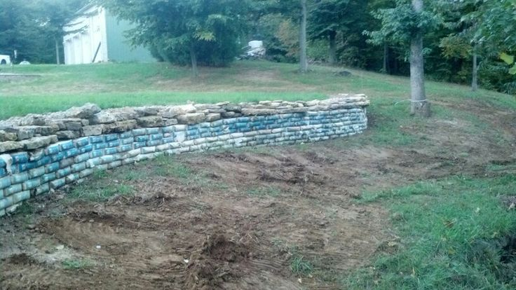 Concrete Bag Wall My Projects Pinterest Concrete Bags Retaining Walls And Landscaping Ideas
