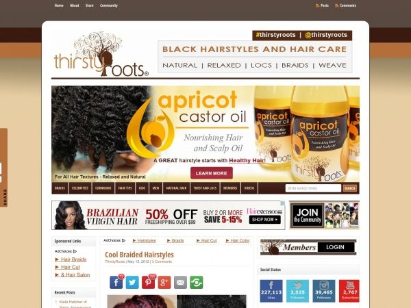 thirstyroots.com: Black Hairstyles and Hair Care