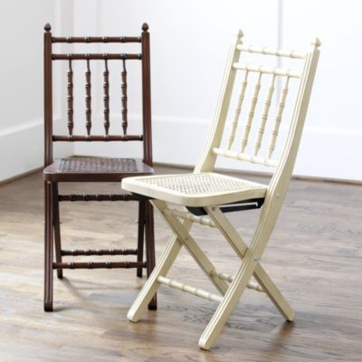 "$99 - St. Germain Folding Chair Overall: 35 1/2""H X 14 1/2""W X 20 3/4""D Seat: 18 1/2""H"