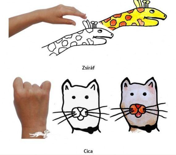 Knutselen - Om je hand een lijn trekken en tekenen maar