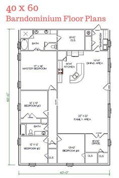 I really LOVE this floor plan. Texas Barndominiums, Texas Metal Homes, Texas Steel Homes, Texas Barn Homes, Barndominium Floor Plans More by lizzie