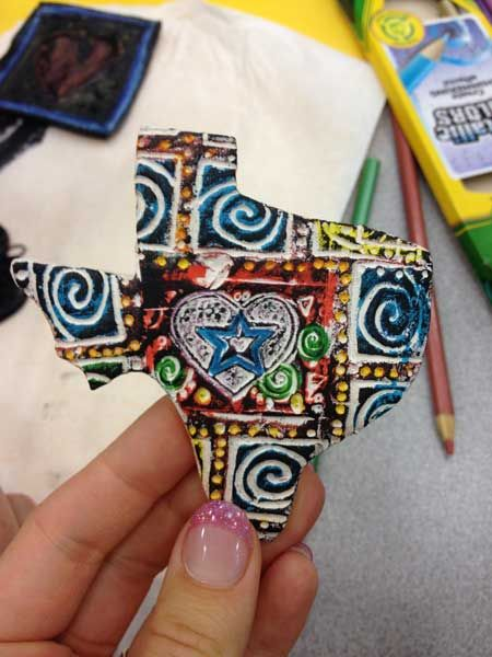 Non-traditional embellishment techniques to use on clay for elementary teachers