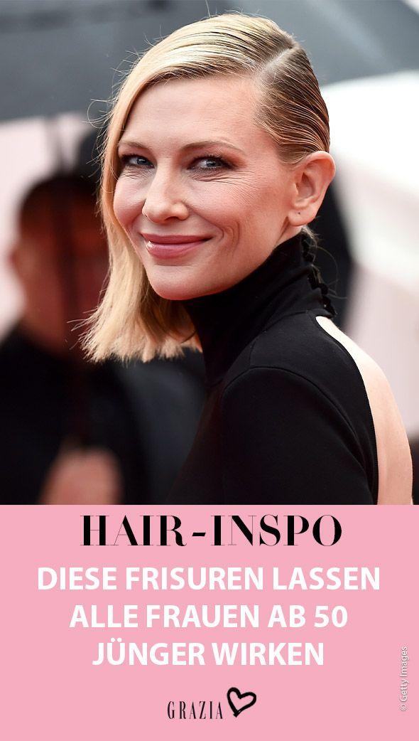 Anti Aging Fur Die Haare Diese Frisuren Machen Junger Kurzhaarfrisuren Frisuren Dunnes Haar Frisuren