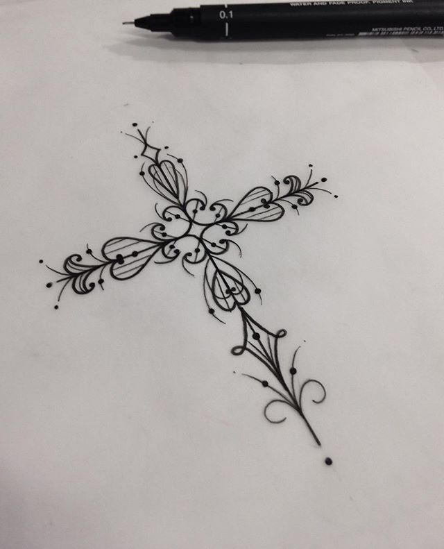 French cross in the middle