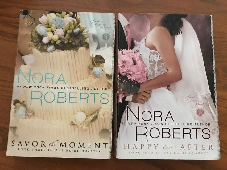 Nora Roberts LOT OF 2 Savor The Moment & Happy Ever After, The Bride Quartet