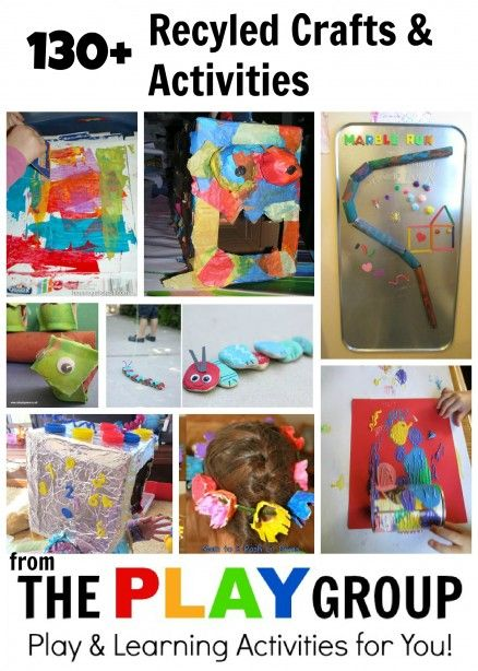 Recycled Crafts & Activities from the PLAY GroupHousing a Forest; activities organized by material you have on hand
