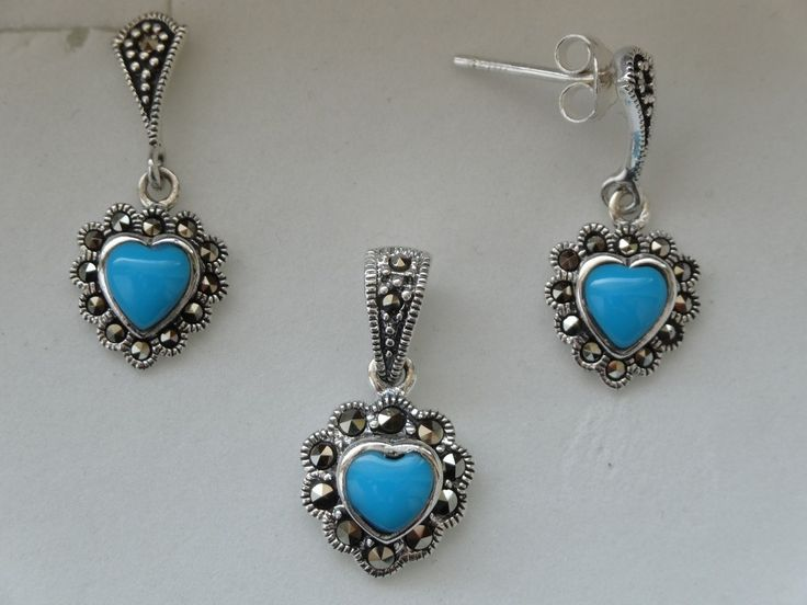 $36 TURQUOISE 925 STERLING SILVER SET, info@bijuterie-online.ro
