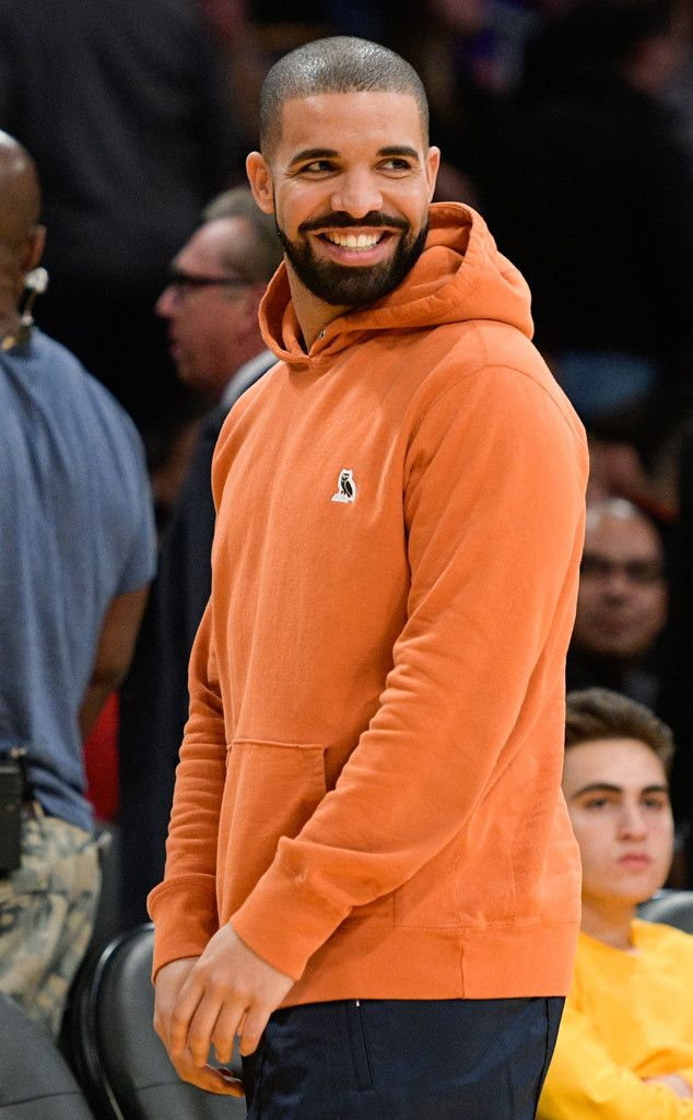 Drake from The Big Picture: Today's Hot Pics  Orange you glad!  The rapper is seen having a blast at a basketball game between the Golden State Warriors and the Los Angeles Lakers.