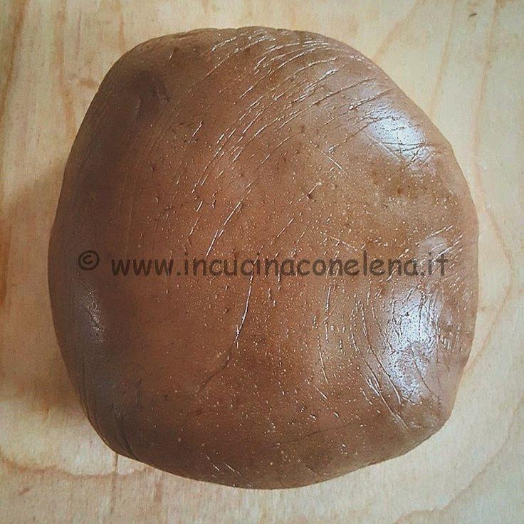 Ricetta pasta frolla con farina di #castagne (#senzauova, #senzaburro)