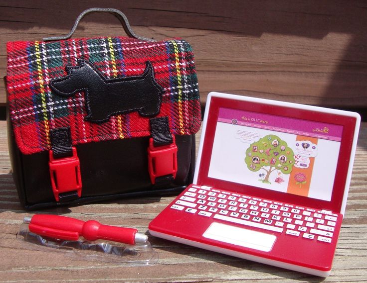Our Generation 18 Quot Doll Plaid Laptop Computer Scottie Bag School American Girl Bags Laptop